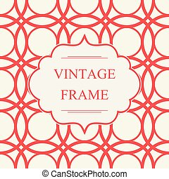Abstract Vintage Frame Template