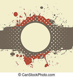 abstract vintage grunge card