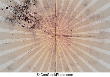 Vintage Grunge Sunburst Paper