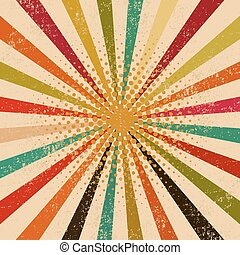 Abstract vintage rays background