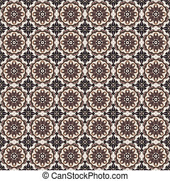 abstract vintage seamless texture of intricate circular ornament