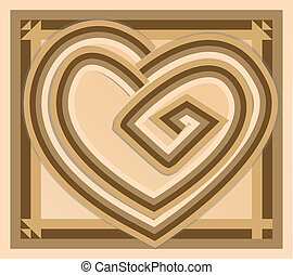 Abstract vintage vector heart