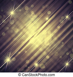 abstract vintage violet grey background with shining yellow lines and stars