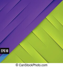 Abstract violet and green background with lights and shadows