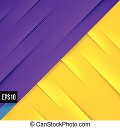 Abstract violet and yellow background with lights and shadows