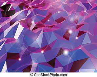 Abstract violet background. Combination of triangle. Vector