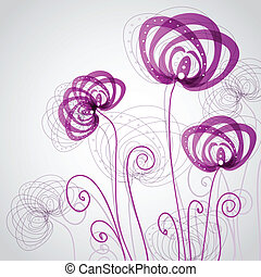 Abstract violet flowers