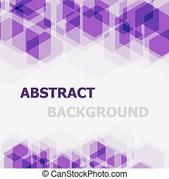 Abstract violet hexagon overlapping background