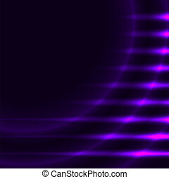 Abstract violet lights vector background with copy space.