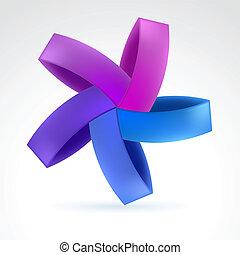 Web Element - Abstract Violet Web Element. Illustration on...