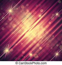 abstract violet yellow background with shining lines and stars