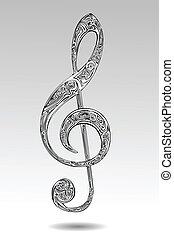 Abstract violin key