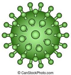 Abstract virus icon