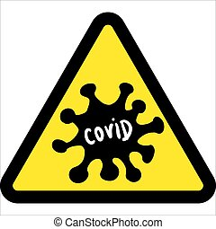 Abstract virus strain model coronavirus 2019-nCoV COVID-19 MERS-Cov Novel coronavirus in the sign of biohazard