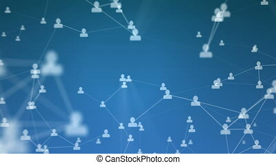 Abstract visualization of a social network. - High quality...