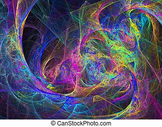 Abstract Vivid Rainbow Design - Fun Abstract Vibrant Rainbow...