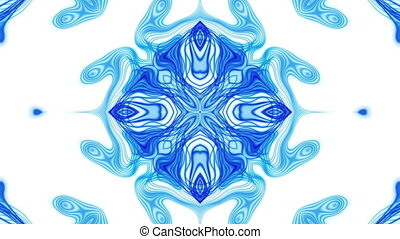 VJ Blue and White Loop