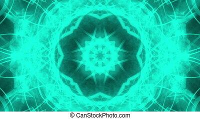 Abstract VJ Blue Green Loop