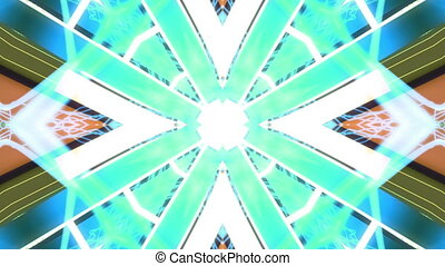 Abstract VJ looping kaleidoscopic animated CG background blue