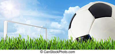 abstract, voetbal, of, voetbal, achtergronden