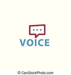 Abstract voice icon. Vector logo template