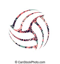Abstract volleyball  tribal symbol