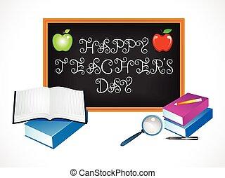 abstract, vrolijke , leraar, dag, artistiek