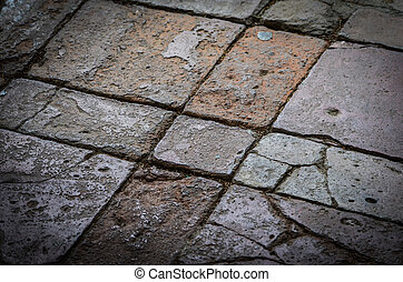 abstract wall close up view - stone, bricks, wood architecture of the walls
