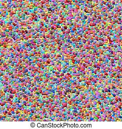 Abstract wall of colored cubes. EPS 10 vector file included