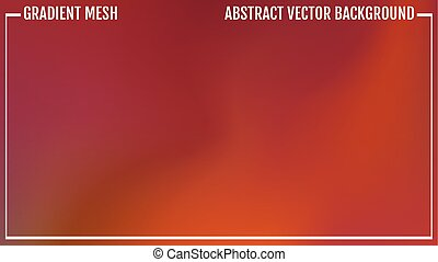 Abstract warm background motion blur. Natural bright colors. Poster With Gradient Mesh