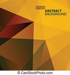 Abstract Warm Geometric Background.
