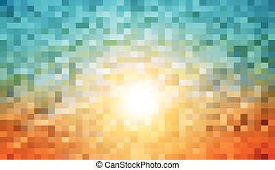 Abstract warm mosaic background