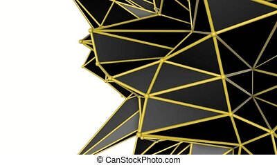 abstract warped low poly. 3d rendering - abstract warped low...