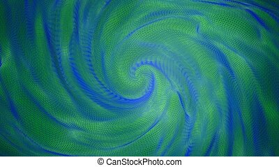 Abstract warping background in green and blue