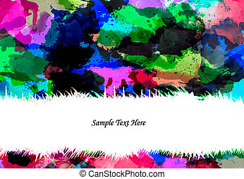 abstract water color splash