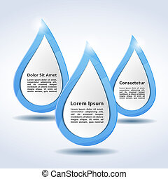 Abstract water drops with place for text, vector eps10 illustration