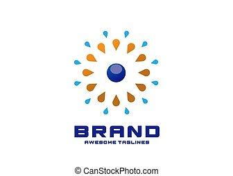 water splash and circle logo