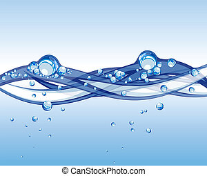 water vector - Abstract water vector background with bubbles...