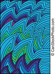 Abstract water waves background. Vector illustration