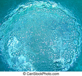 abstract water with bubbles