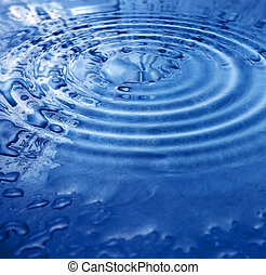 abstract water worl - water ripples color and shape concept