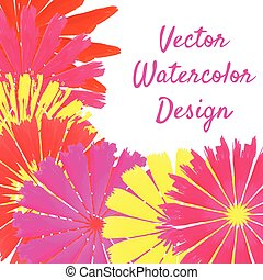 watercolor asters frame