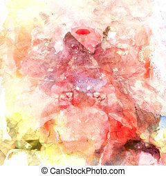 abstract watercolor background - bright colorful watercolor ...