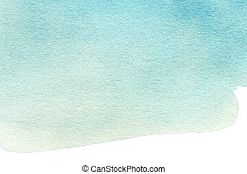 Abstract Watercolor background. Colorful blue water color ...
