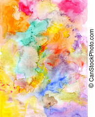 Abstract watercolor background - hand drawn