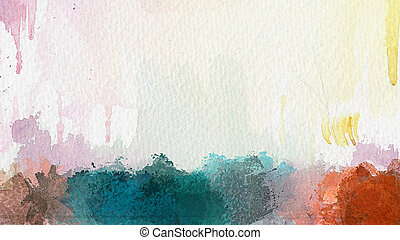 Abstract watercolor background - Hand painted watercolour...