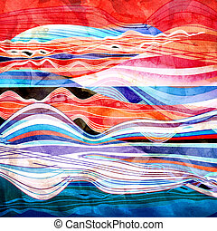 Abstract watercolor background wave