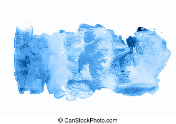 Abstract watercolor background with blue stains.