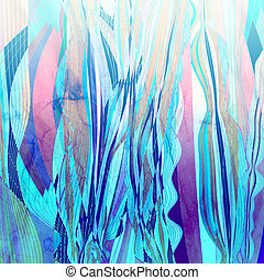 Abstract watercolor background with colorful wave