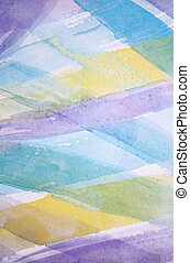 Abstract watercolor background with different layers on paper